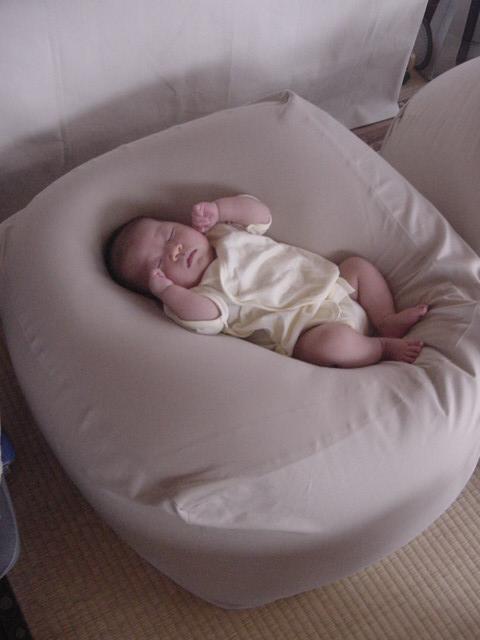 ソファっていうかクッションっていうか微妙ですけど。 無印良品の「体にフィットするソファ」 ...